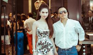 Ngọc Trinh diện váy bó khoe ba vòng trong sự kiện ở Singapore