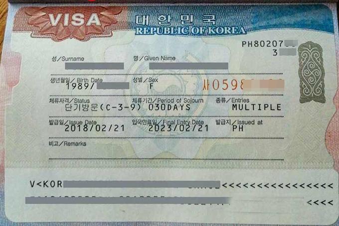 Visa Hàn Quốc nhiều lần thời hạn 5 năm.
