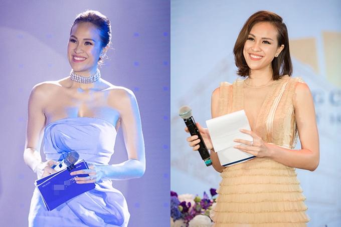 Sở hữu ngoại hình sáng, khả năng ăn nói và vốn ngoại ngữ lưu loát, Phương Mai đắt show làm MC song ngữ tại các sự kiện lớn: Asean Fashion Designers, Vietnam International Fashion Week,...