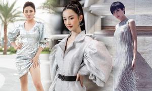 Trang phục ánh kim của Hà Nhật Tiến được sao Việt yêu thích