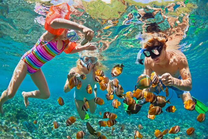 Lặn biển ngắm san hô cũng là một trong những hoạt động thú vị trên đảo.