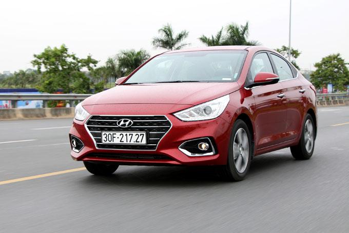 Hyundai Accent tiêu thụ 1.585 xe trong tháng 5.