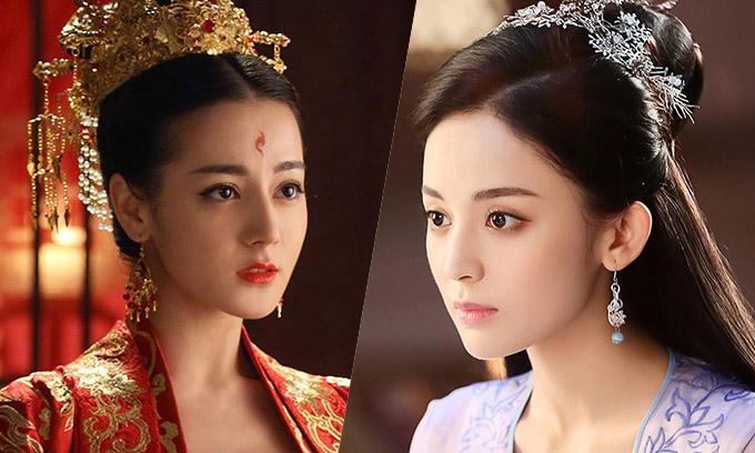 Địch Lệ Nhiệt Ba (trái) và Cổ Lực Na Trát được ca tụng mỹ nữ nhưng vắng bóng trong top bốn người đẹp cổ trang.