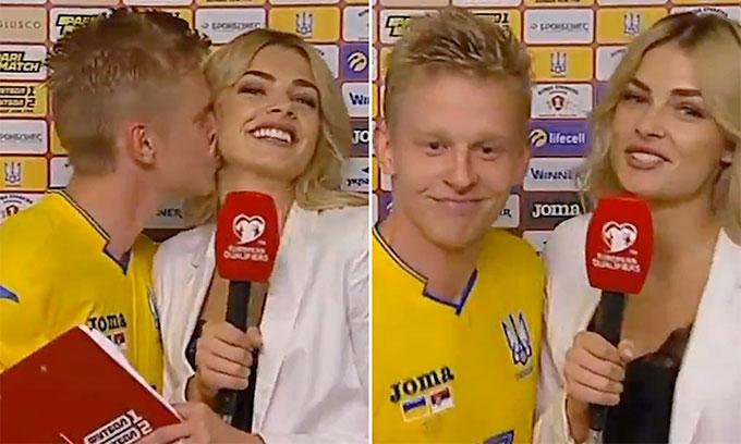 Màn thổ lộ tình cảm của Zinchenko với nữ phóng viên đồng hương...