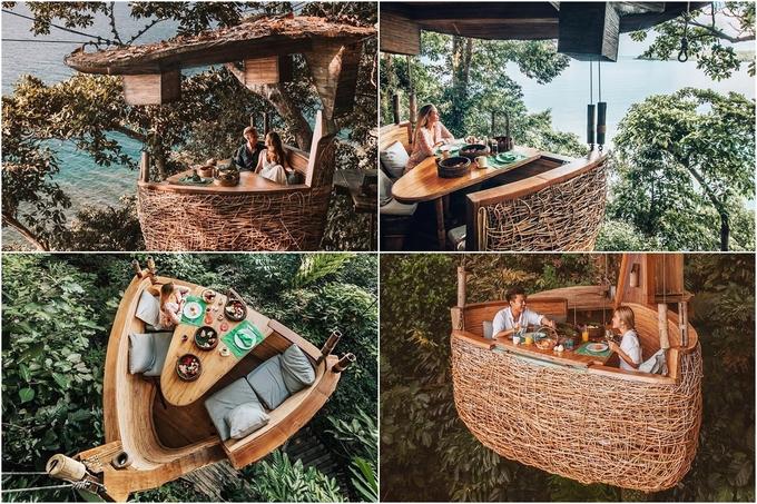Resort Thái Lan nơi bạn được phục vụ bữa ăn lơ lửng giữa rừng