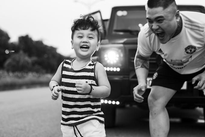 Hạnh phúc của chàng ca sĩ gốc Hà Nội là con trai ba tuổi.