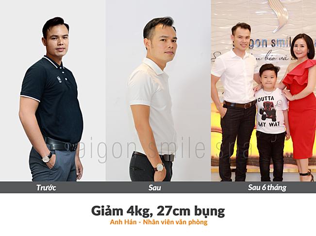 Anh Hán tự tin hơn với vóc dáng hiện tại sau khi giảm béo thành công.