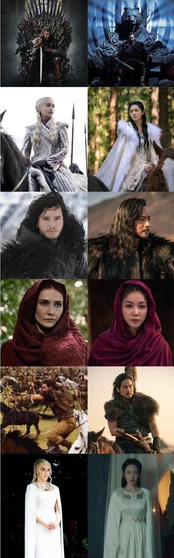 Một số điểm tương đồng giữa Biên niên ký Arthdal và Game of Thrones.