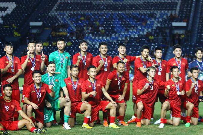Tuyển Việt Nam giành ngôi Á quân tại Kings Cup 2019. Ảnh: Anh Khoa.