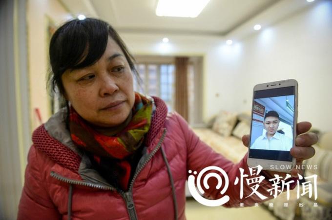 Bà He Xiaoping khoe ảnh Liu