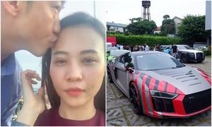 Cường Đôla hôn vợ khi tham gia Car Passion 2019