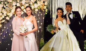 Loạt cô dâu showbiz chuộng mốt jumpsuit cưới