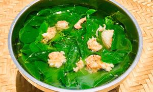 Canh rau ngót nấu tôm