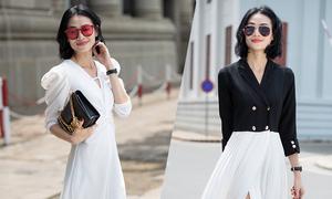 Thanh Trúc Trương gợi ý mặc đẹp cùng xu hướng xếp ly