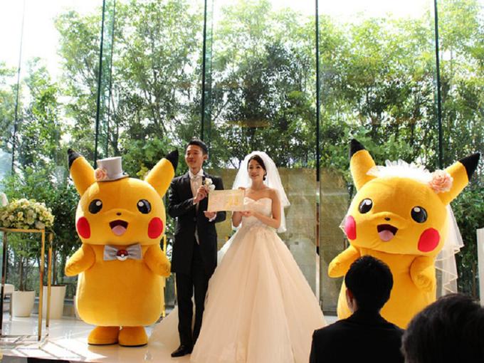 Một nhà cung cấp dịch vụ cưới ở Nhật đã mang đến concept tiệc dựa theo bộ truyện Pokemon với sự xuất hiện chủ đạocủa nhân vật Pikachu.
