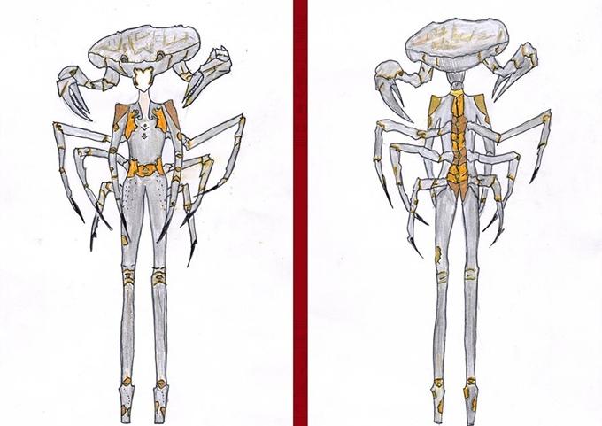 Trang phục tái hiện hình ảnh cua Cà Mau của Khánh Duy gây thích thú.