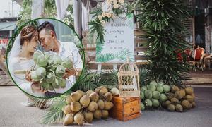 Lễ đính hôn với 400 trái dừa ở Bình Dương