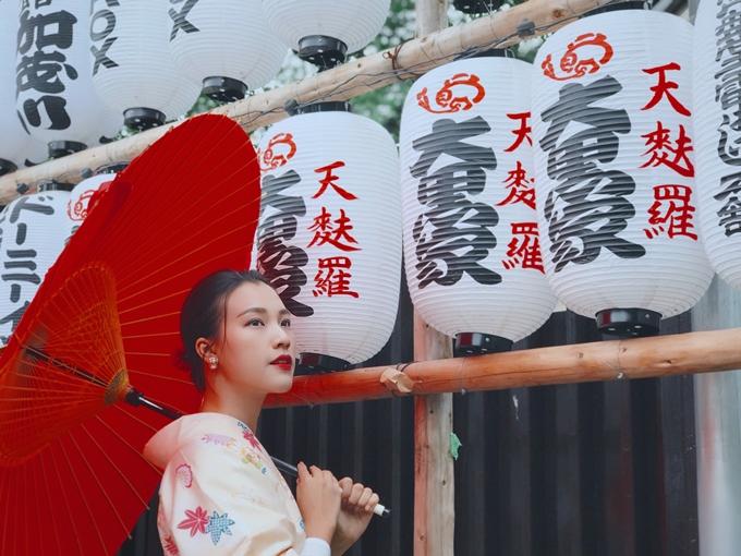 MC Hoàng Oanh vừa có chuyến du lịch tại Nhật Bản và thăm quan hai thành phố Tokyo,