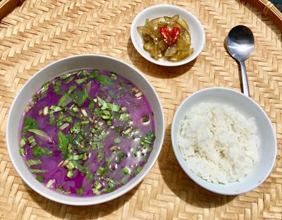 Canh khoai mỡ nấu tôm khô - 3