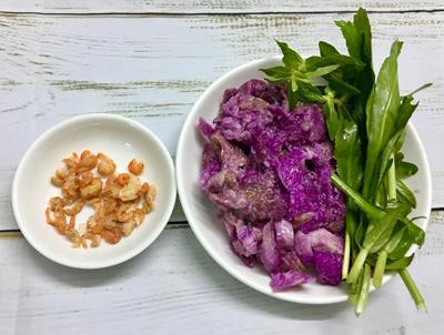 Canh khoai mỡ nấu tôm khô - 1