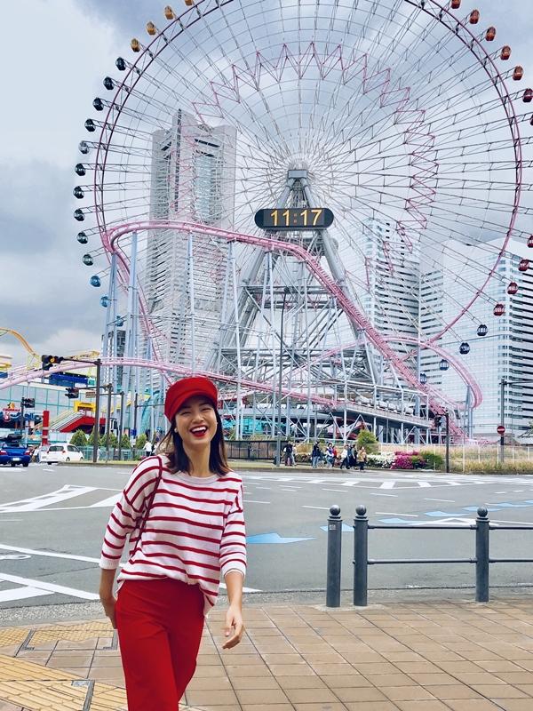 Từ Tokyo ngồi tàu cao tốc 2 tiếng, Hoàng Oanh đến được thành phố xinh đẹp và bình yên Yokohama