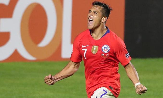 Niềm vui của Sanchez khi ghi bàn sau thời gian dài.