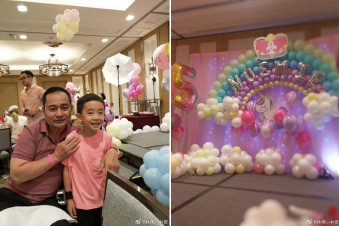 Bố Dương Mịch trong bữa tiệc sinh nhật bé Tiểu Gạo Nếp.
