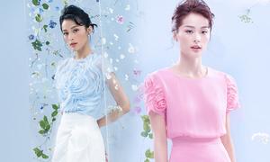 Hạ Vi tôn dáng với trang phục pastel
