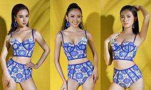 Thí sinh Hoa hậu Thế giới Việt Nam diện bikini khoe dáng
