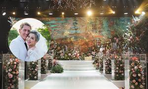 Tiệc cưới tranh màu nước 'vẽ' nên một khu rừng tình yêu
