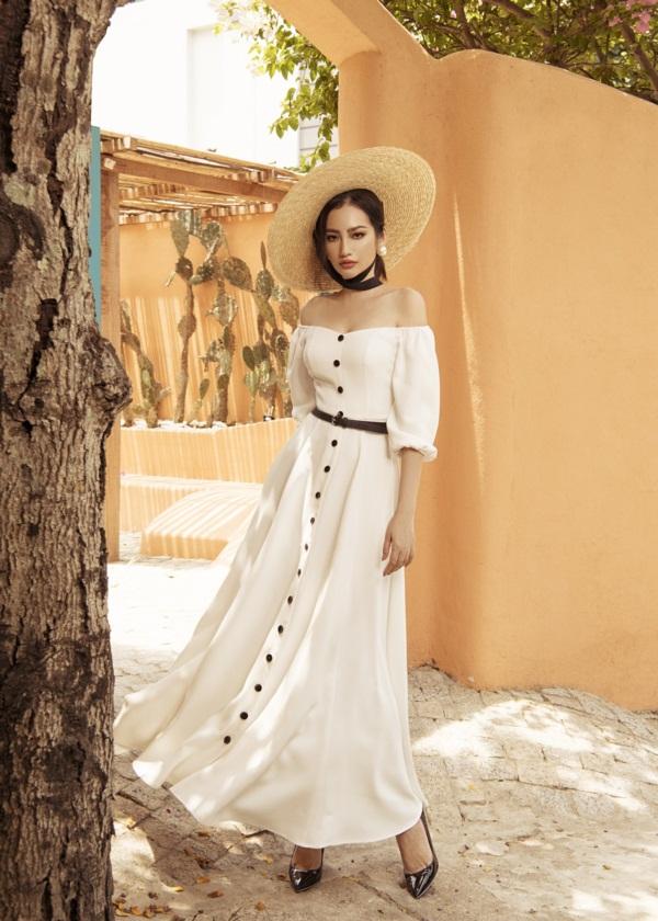 Người đẹp thả dáng với các bộ sưu tậpMùa hè Morocco do chính cô thiết kế.