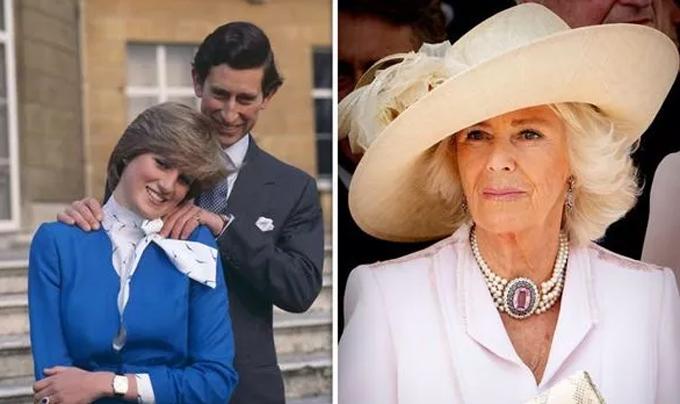 Thái tử Charles và Công nương Diana tuyên bốđính hôn năm 1981 (ảnh trái), ly hôn năm 1996. Thái tử Charles cưới bà Camilla (ảnh phải) năm 2005. Ảnh: UK Press.