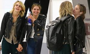 Cara Delevingne âu yếm người tình đồng giới ở sân bay