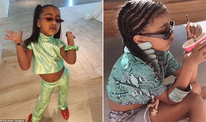 Con gái sành điệu của Kim - Kanye.