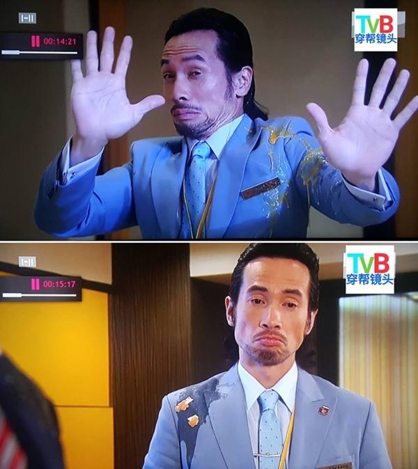Trần Hào bị ném trứng thối trong phim Những kẻ ba hoa. Ở đúp hình trước, anh bị ném trúng ngực áo trái. Qua đúp hình sau, vết trứng thình lình chuyển sang ngực áo phải.