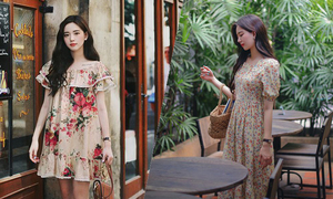 Những kiểu váy hoa cho nàng dạo phố