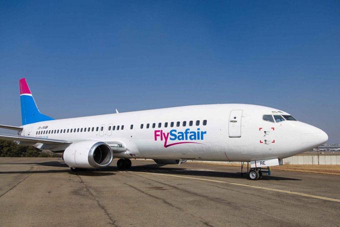 FlySafair là một hãng hàng không giá rẻ ở Nam Phi. Ảnh: News24.