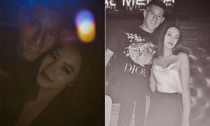 Hoa hậu Jolie Nguyễn chụp ảnh thân mật với tuyển thủ Anh