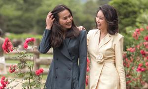Hà Kiều Anh, Dương Mỹ Linh dạo chơi ở Hàn Quốc