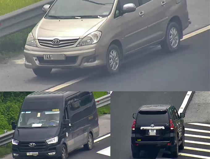 Hình ảnh baôtô đi lùi trên cao tốc bị camera giám sát ghi lại. Ảnh: Ban quản lý cao tốc Hà Nội - Hải Phòng.