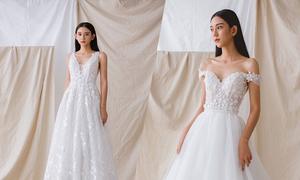 Váy cưới tái hiện câu chuyện tình của cô dâu chú rể