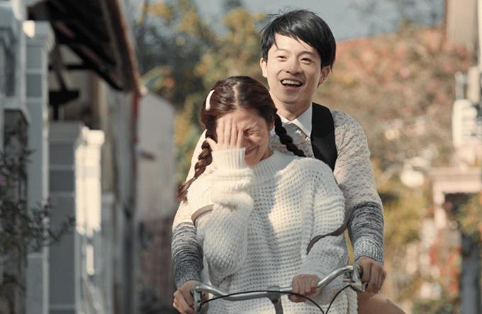 Harry Lu và Oanh Kiều có nhiều cảnh quay hẹn hòlãng mạn trong phim Thật tuyệt vời khi ở bên em.