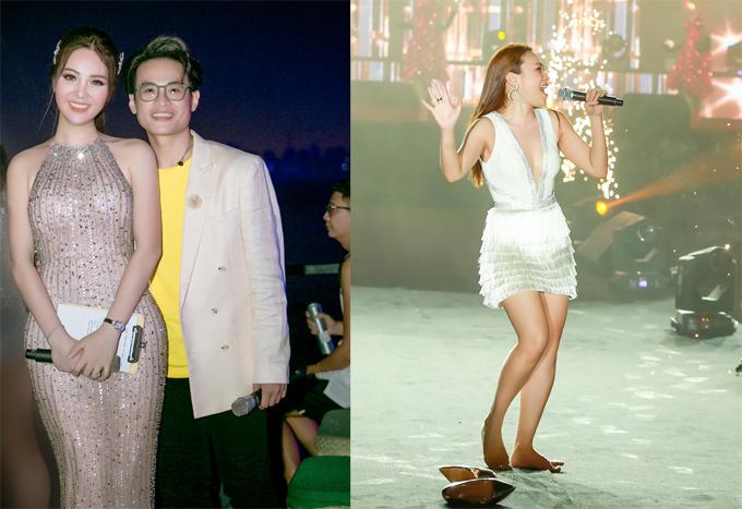 Cô dành nhiều lời khen ngợi cho Hà Anh Tuấn, Mỹ Tâm - hai nghệ sĩ biểu diễn trong chương trình.