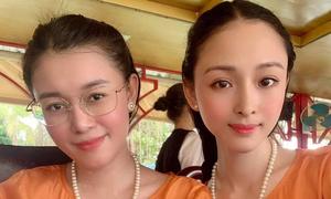 Hoa hậu Phương Nga đi chơi với bạn thân Thùy Dung
