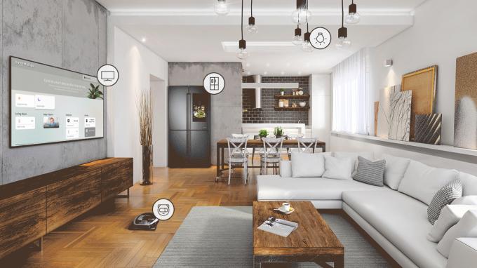 Triết lý thiết kế tối giản và màn hình tràn viền giúp QLED 4K trở thành điểm nhấn sáng tạo cho không gian nhà.