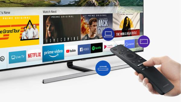 Tận hưởng thế giới giải trí khổng lồ tại Smarthub và kho phim 4K độc quyền từ Samsung.