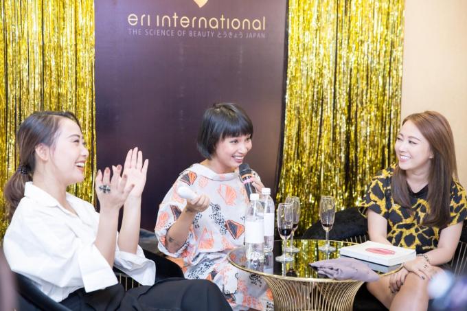 Những chia sẻ của Thùy Minh (giữa) khuấy động không khí Ladies Club.