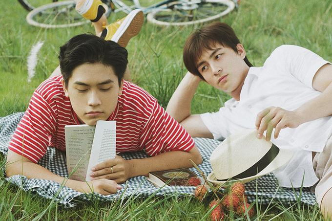 Gia Huy (trái) và Lãnh Thanh đóng chính trong phim.