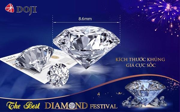 Mua kim cương theo giá của bạn, giảm giásâu, DOJI sẵn sàng cung cấp lựa chọn với mọi khoảng giá khách hàng đưa ra.