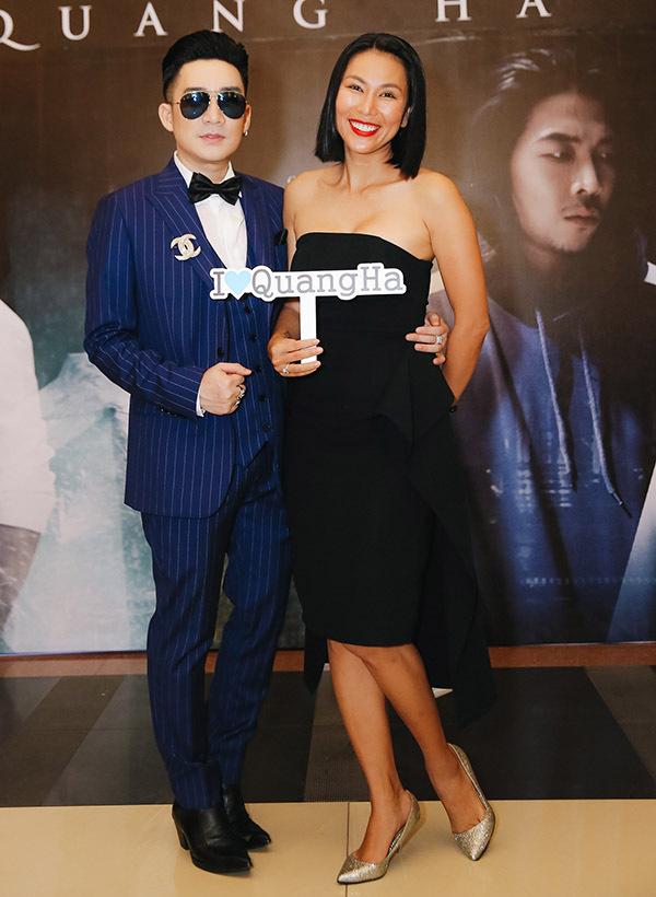 Khánh Ngọc ủng hộ đồng nghiệp ra sản phẩm mới.
